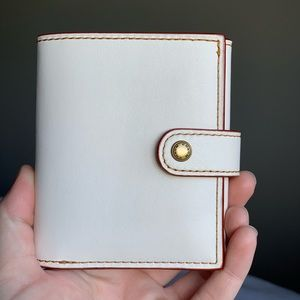 Coach 1941 small trifold wallet in Chalk